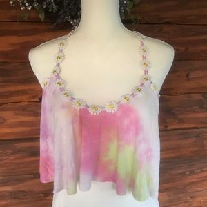 Tobi strappy crop top tie dye
